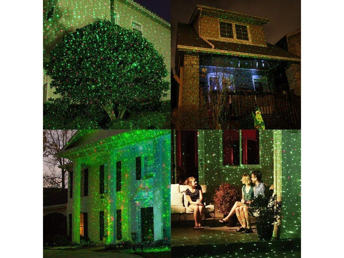 CR-Tec Laser Light Holiday Projector Red & Green Dots Christmas light
