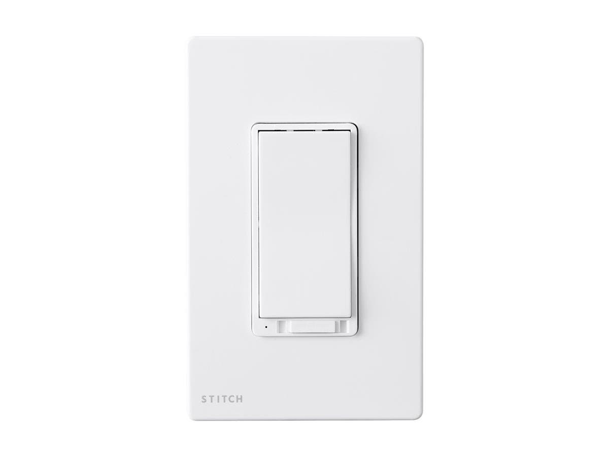 STITCH by Monoprice Wireless Smart In-Wall On/Off Dimmer Light Switch With Wall Plate, Works with Alexa and Google Home, No Hub Required-Large-Image-1