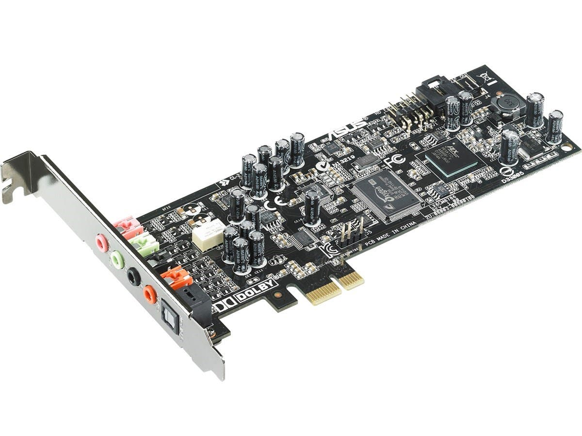 Asus Xonar DGX PCI Express 5.1-channel Gaming Audio Card - Internal - C-Media CMI8786 - PCI Express - 1 x Number of Audio Line In - 3 x Number of Audio Line Out - S/PDIF Out (Open Box) - main image