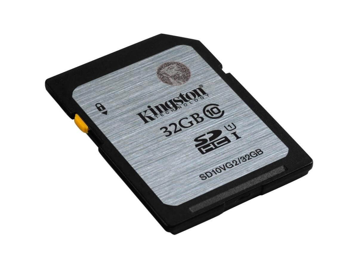 Kingston 32 GB SDHC - Class 10/UHS-I - 45 MB/s Read - 10 MB/s Write1 Pack (Open Box)-Large-Image-1