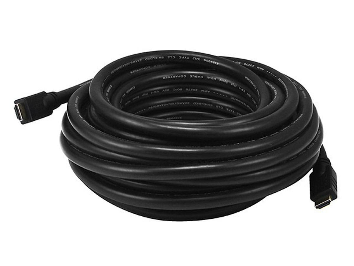 Commercial Silver Series Standard HDMI Cable, 35ft Black