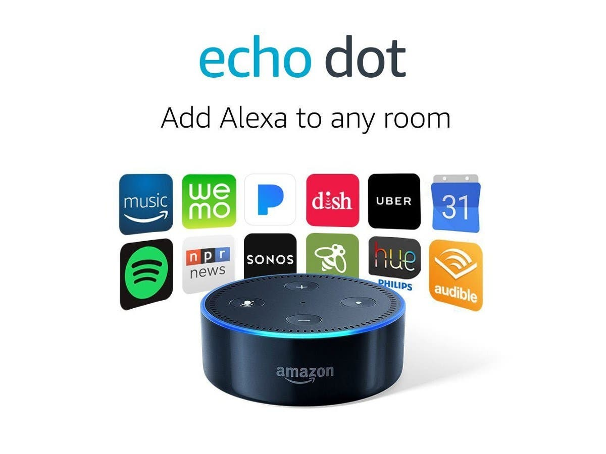Echo Dot (2nd Generation) - Smart speaker with Alexa - Black smart Home-Large-Image-1