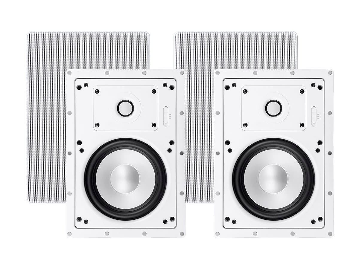 Sycamore by Monoprice Architectural In-Wall Speakers 6.5in 2-way Aluminum with Micro Ceramic Composite Tweeter (Pair)-Large-Image-1
