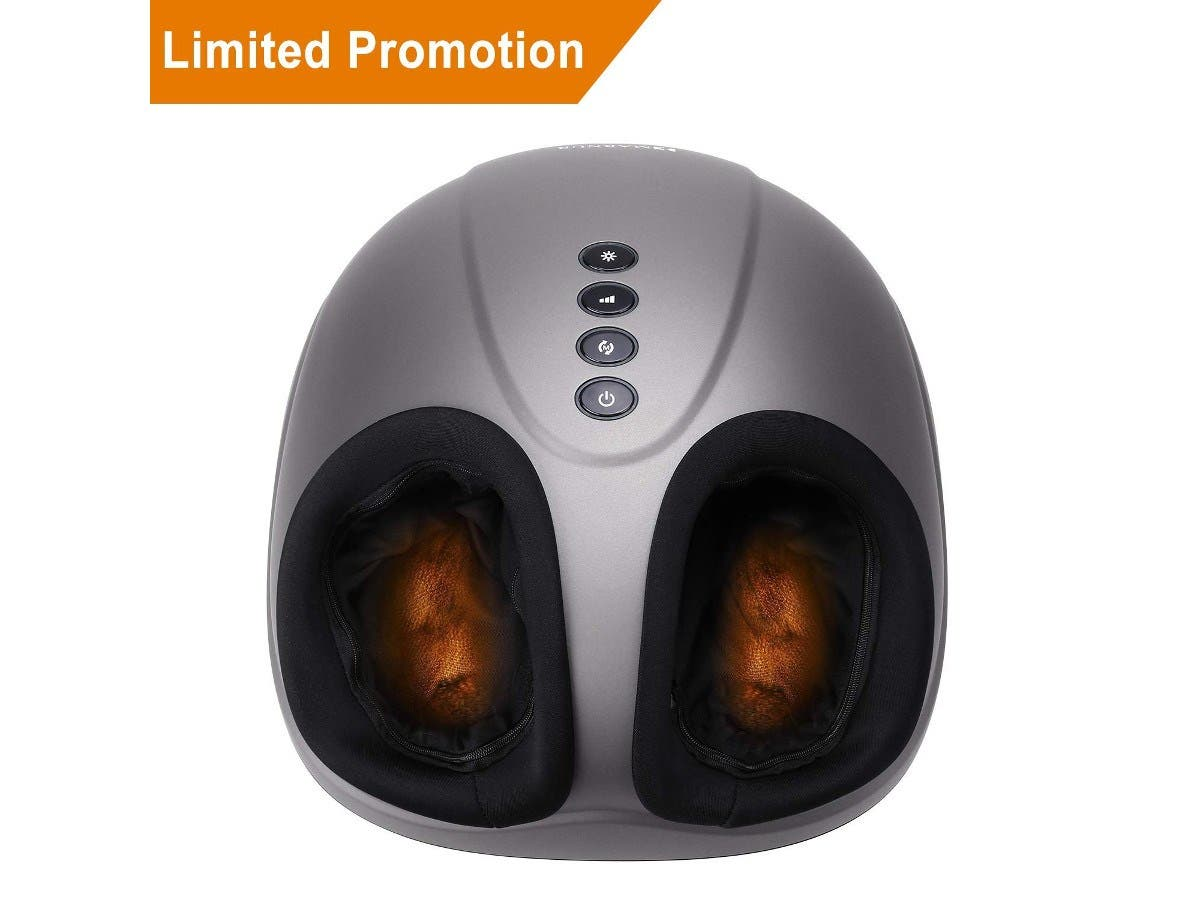 Shiatsu Foot Massager Electric Heat Kneading -Foot Massage Machine Rolling and Air Compression (Refurbished)-Large-Image-1
