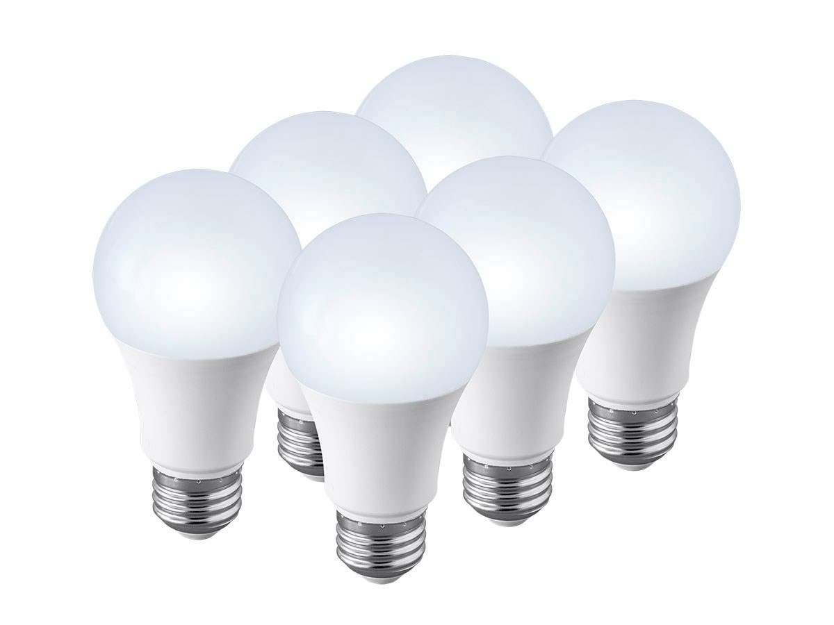 Monoprice 6 Pack, Premium A19 LED Bulb, 75 Watt Equivalent, 1100LM Dimmable, 4000K Pure White High CRI 90+-Large-Image-1