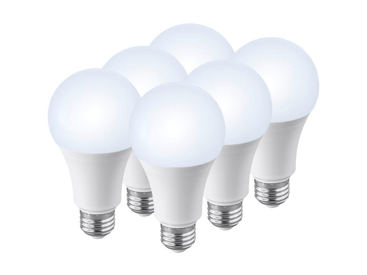 Monoprice 6 Pack, Premium A21 LED Bulb, 100 Watt Equivalent, 1600LM Dimmable, 4000K Pure White High CRI 90+-Large-Image-1
