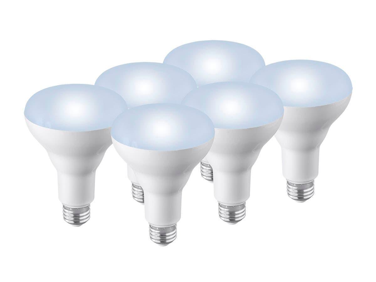 Monoprice 6 Pack, Premium BR30 LED Flood Light Bulb, 800 LM Dimmable, 5000K Daylight High CRI 90+ - main image
