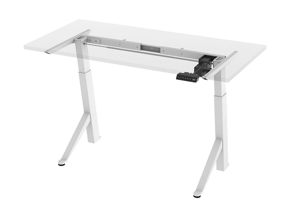 Workstream by Monoprice Single Motor Angled Sit-Stand Desk Frame with Built-In Casters-Large-Image-1