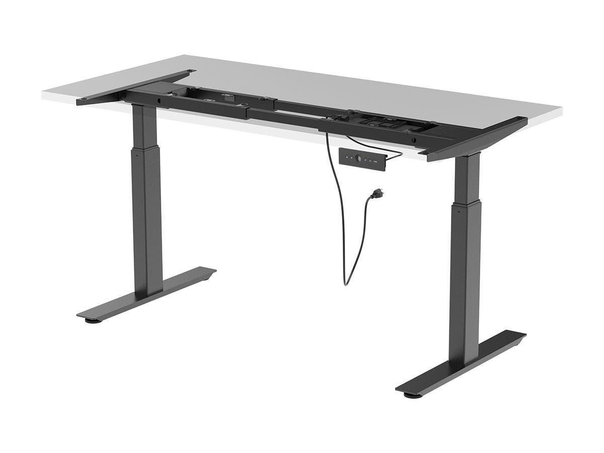 Workstream by Monoprice Dual Motor Easy Fold-Out Assembly Sit-Stand Desk Frame-Large-Image-1