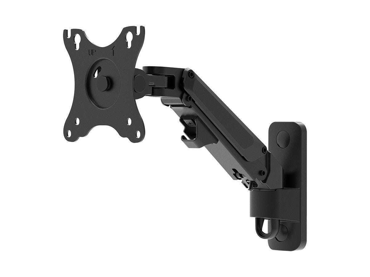 """Workstream by Monoprice Adjustable Gas Spring 1-Segment Wall Mount for Monitors Up To 27""""-Large-Image-1"""