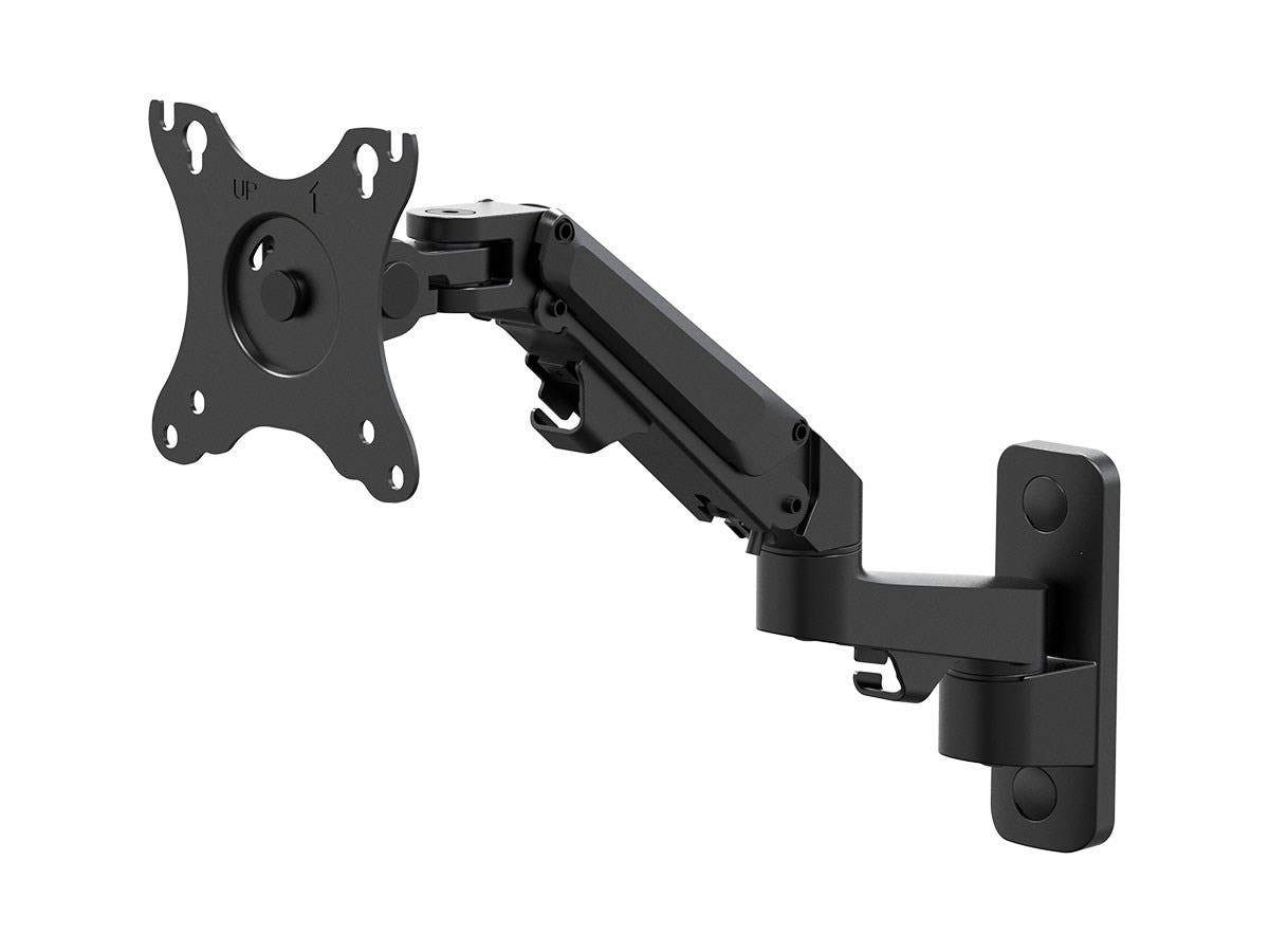 "Workstream by Monoprice Adjustable Gas Spring 2-Segment Wall Mount for Monitors Up To 27""-Large-Image-1"