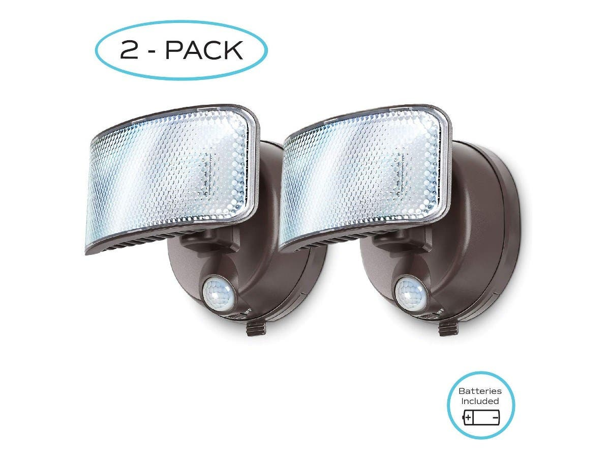 Home Zone Security Motion Sensor Activated Battery Powered LED Security Light 2 Pack (Battery Included)-Large-Image-1