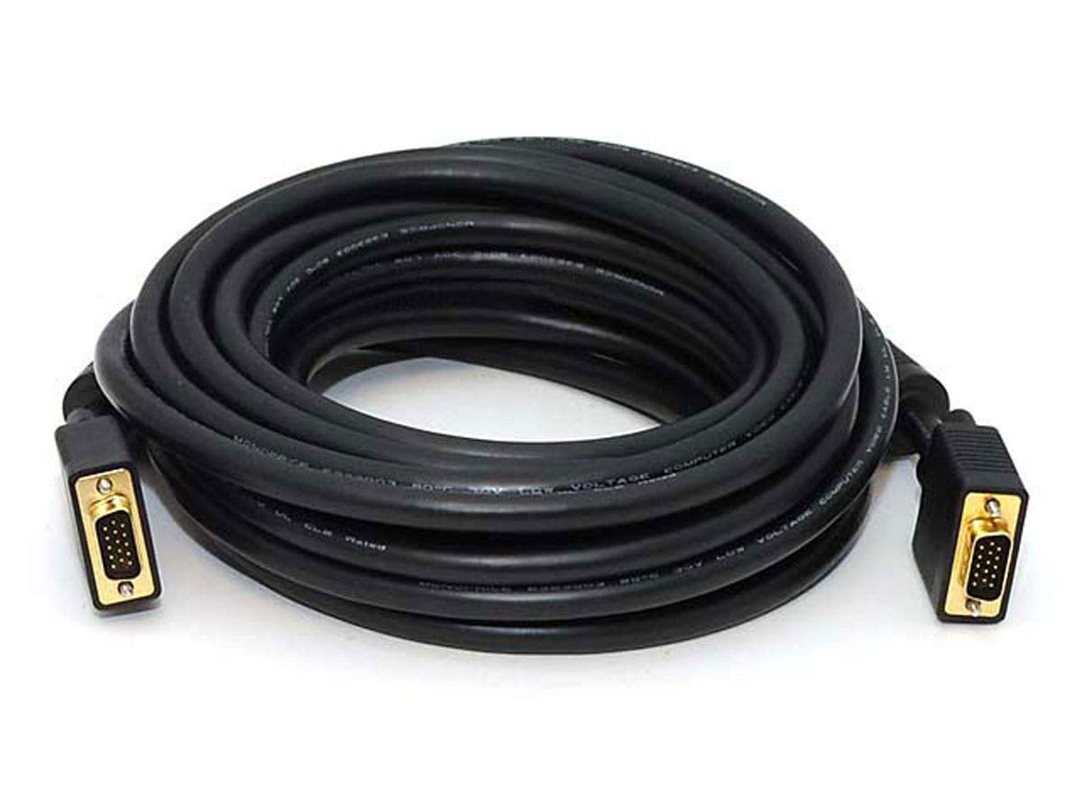 25ft Super VGA M/M CL2 Rated (For In-Wall Installation) Cable w/ Ferrites (Gold Plated)