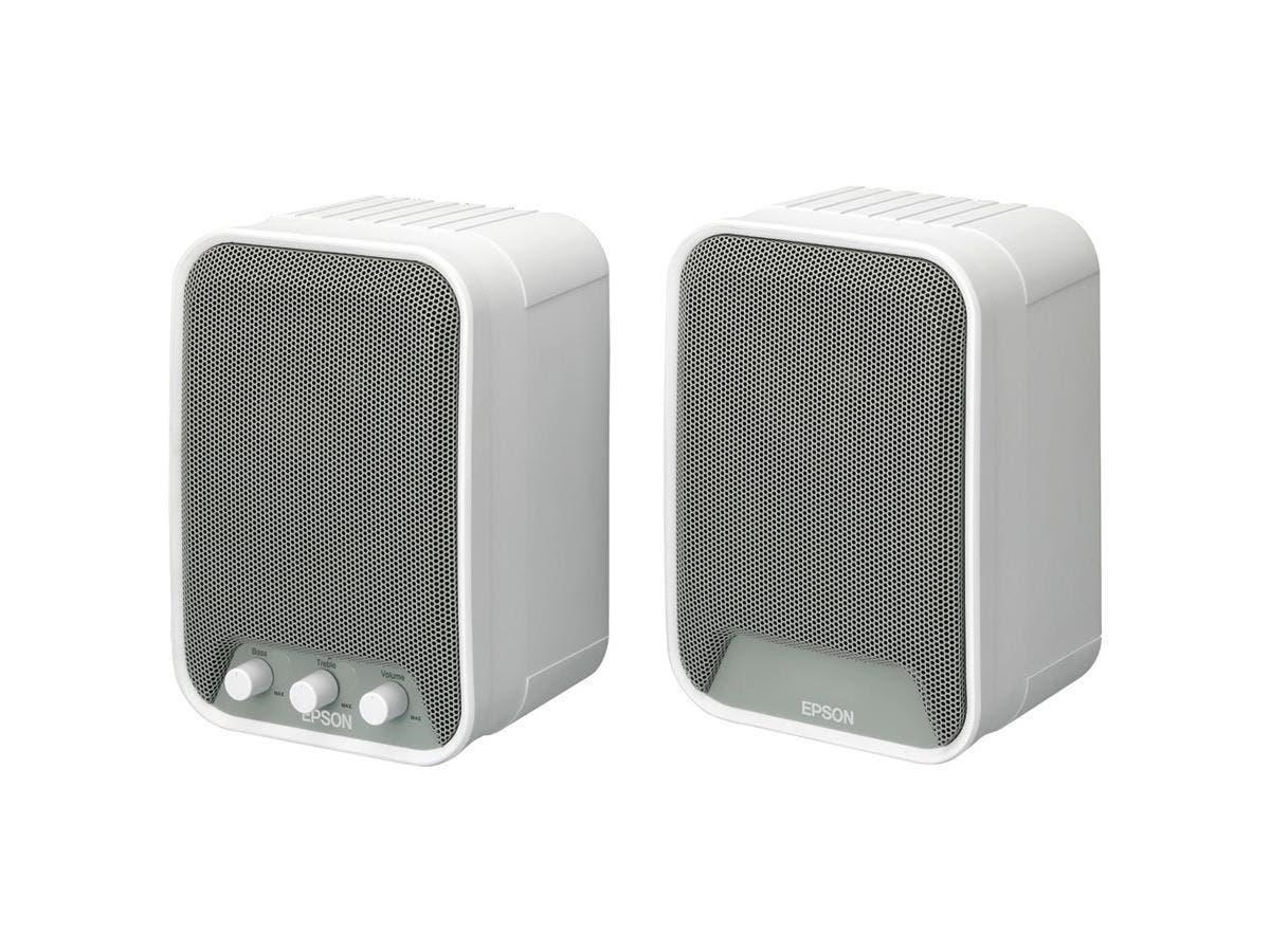 Epson ELPSP02 2.0 Speaker System - 30 W RMS - White - 80 Hz - 20 kHz (Open Box)-Large-Image-1