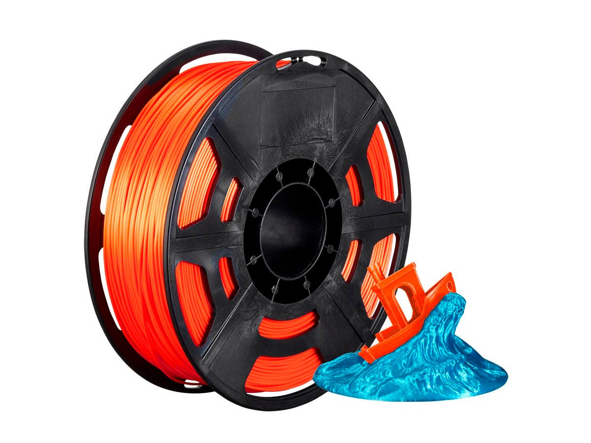 Monoprice Hi-Gloss 3D Printer Filament PLA 1.75mm 1kg/spool, Orange-Large-Image-1