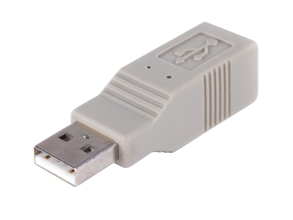 USB 2.0 A Male/B Female Adapter-Large-Image-1