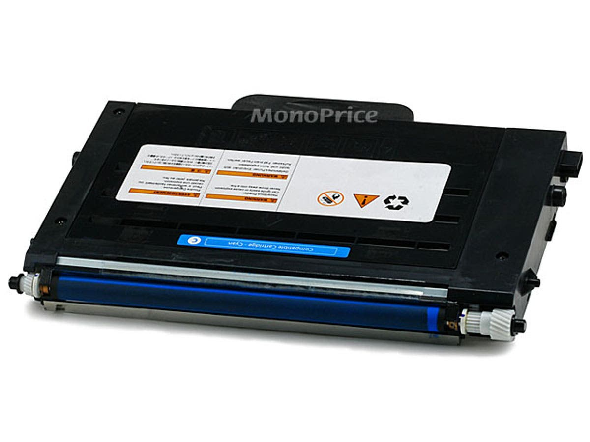 Monoprice CLP500C-40C Remanufactured Laser Toner Cartridge for SAMSUNG CLP-500, CLP-550, CLP-550N CYAN-Large-Image-1