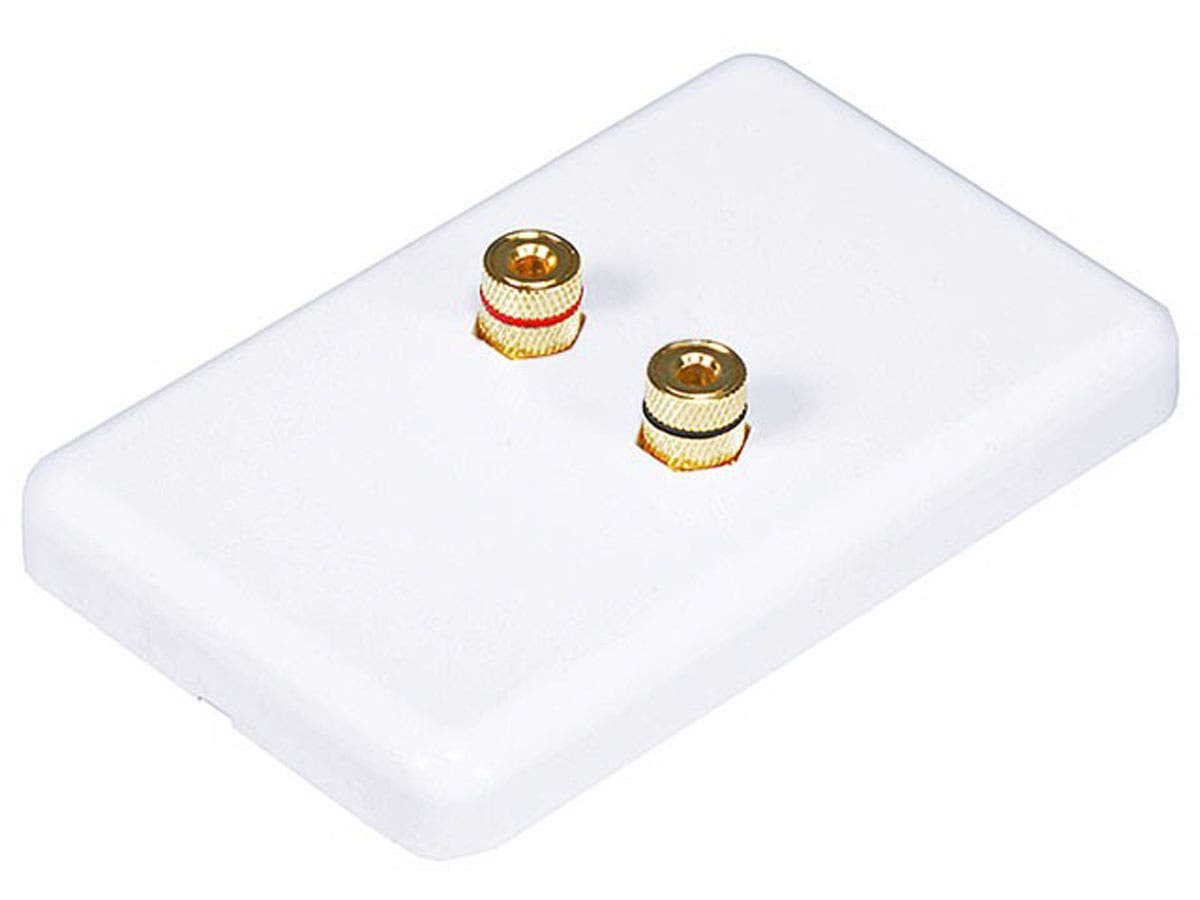 Monoprice High Quality Banana Binding Post Wall Plate for 1 Speaker - Coupler Type-Large-Image-1