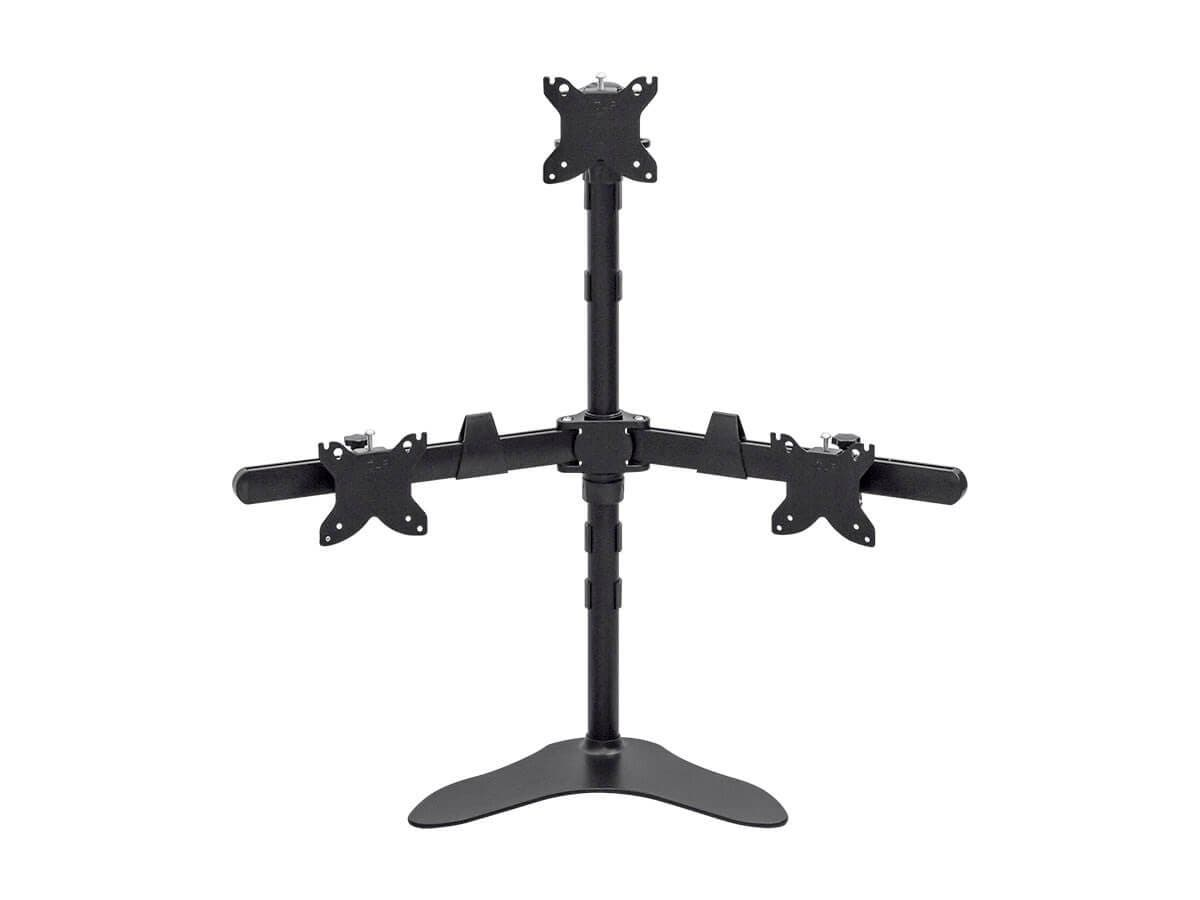 Monoprice Triple Monitor Pyramid Free Standing Desk Mount for 15~30in Monitors (Open Box)-Large-Image-1