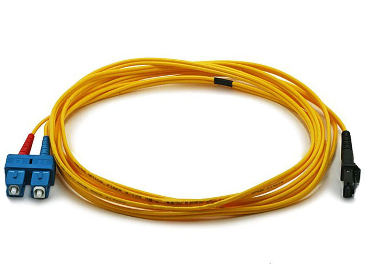 Fiber Optic Cable, MTRJ (Male)/SC, Single Mode, Duplex - 3 meter (9/125 Type) - Yellow