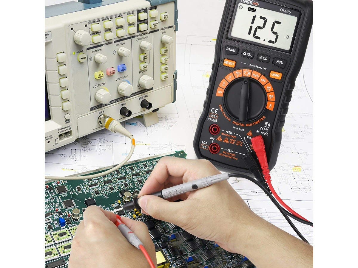 Multimeter Tacklife Dm05 Electronic Tester Trms 6000 Counts Auto Electrical Ranging Measuring
