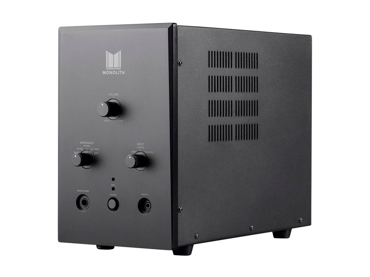 Monolith by Monoprice Tube Headphone Amplifier with ESS Sabre DAC (Open Box)-Large-Image-1