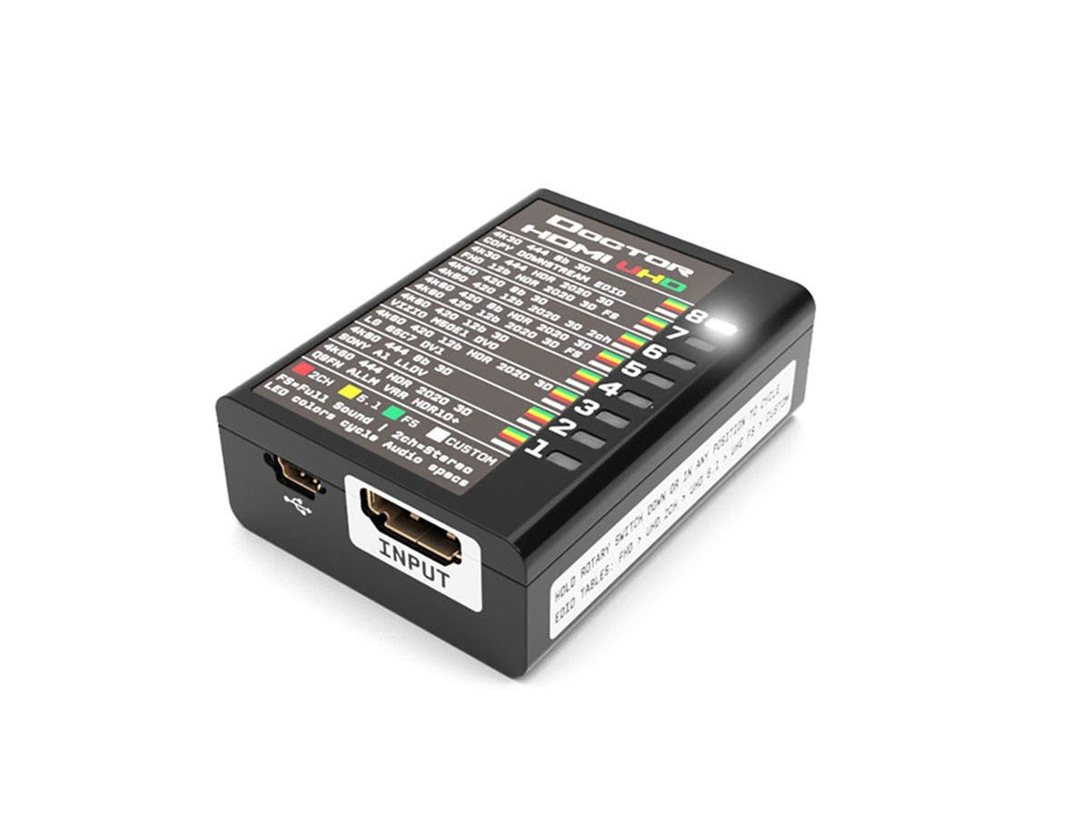 HDFury - Dr HDMI 4K - 18Gbps EDID Manager with 8 FHD Banks, 24 UHD Banks, 8 Custom Banks, featuring RS-232 Control-Large-Image-1