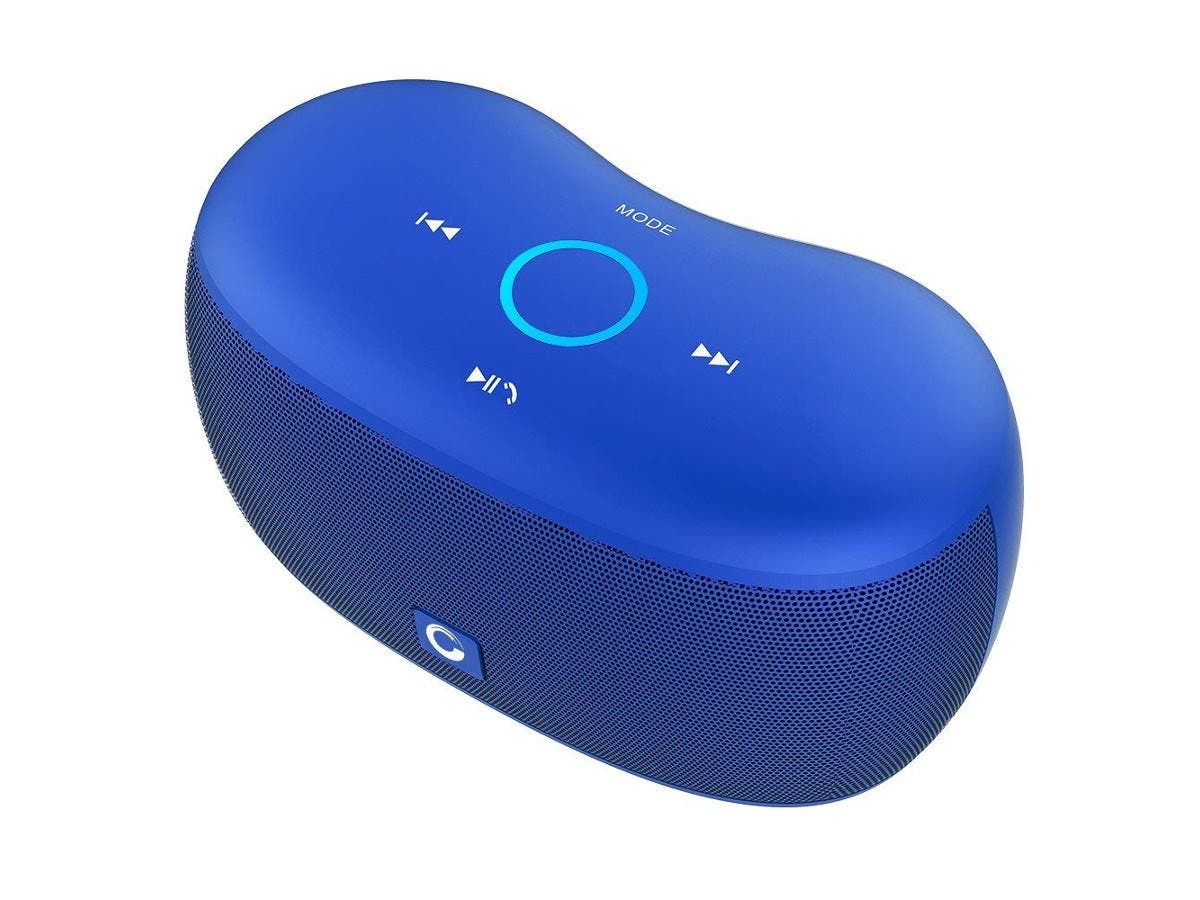 DOSS SoundBox XS Touch Bluetooth Speaker - Portable Wireless Bluetooth Speakers - Blue-Large-Image-1