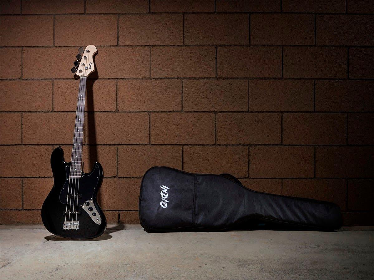 monoprice indio jamm bass with gig bag black open box. Black Bedroom Furniture Sets. Home Design Ideas