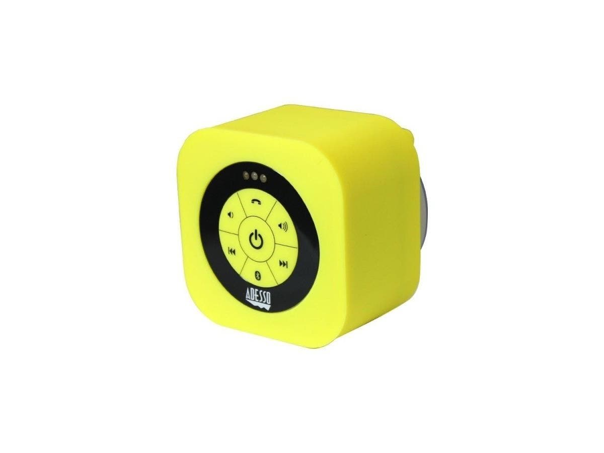 Adesso Xtream Xtream S1Y Speaker System - Battery Rechargeable - Wireless Speaker(s) - Yellow - 150 Hz - 20 kHz - 30 ft - Bluetooth - USB-Large-Image-1