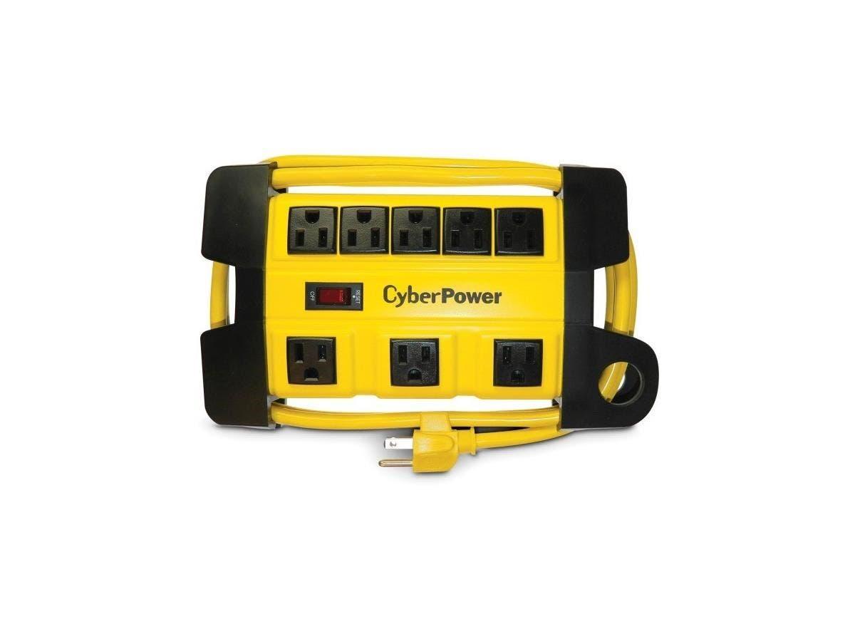 CyberPower DS806MYL Heavy Duty Power Strip - NEMA 5-15P - 8 x NEMA 5-15R - 6 ft Cord - 125 V AC Voltage - Yellow-Large-Image-1