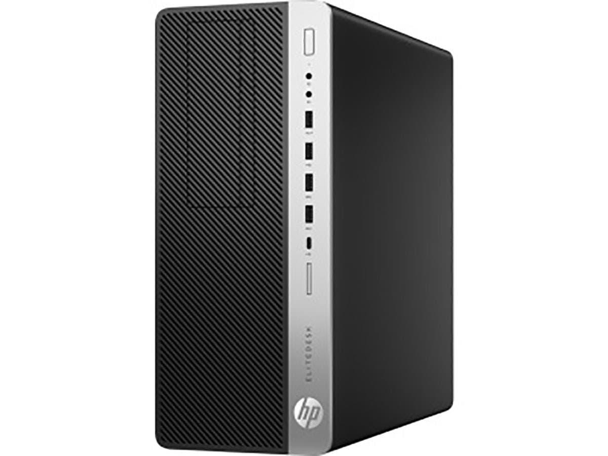 HP EliteDesk 800 G4 Desktop Computer - Intel Core i7 (8th Gen) i7-8700 3.20 GHz - 8 GB DDR4 SDRAM - 256 GB SSD - Windows 10 Pro 64-bit (English) - Tower - 4BC48UT#ABA-Large-Image-1