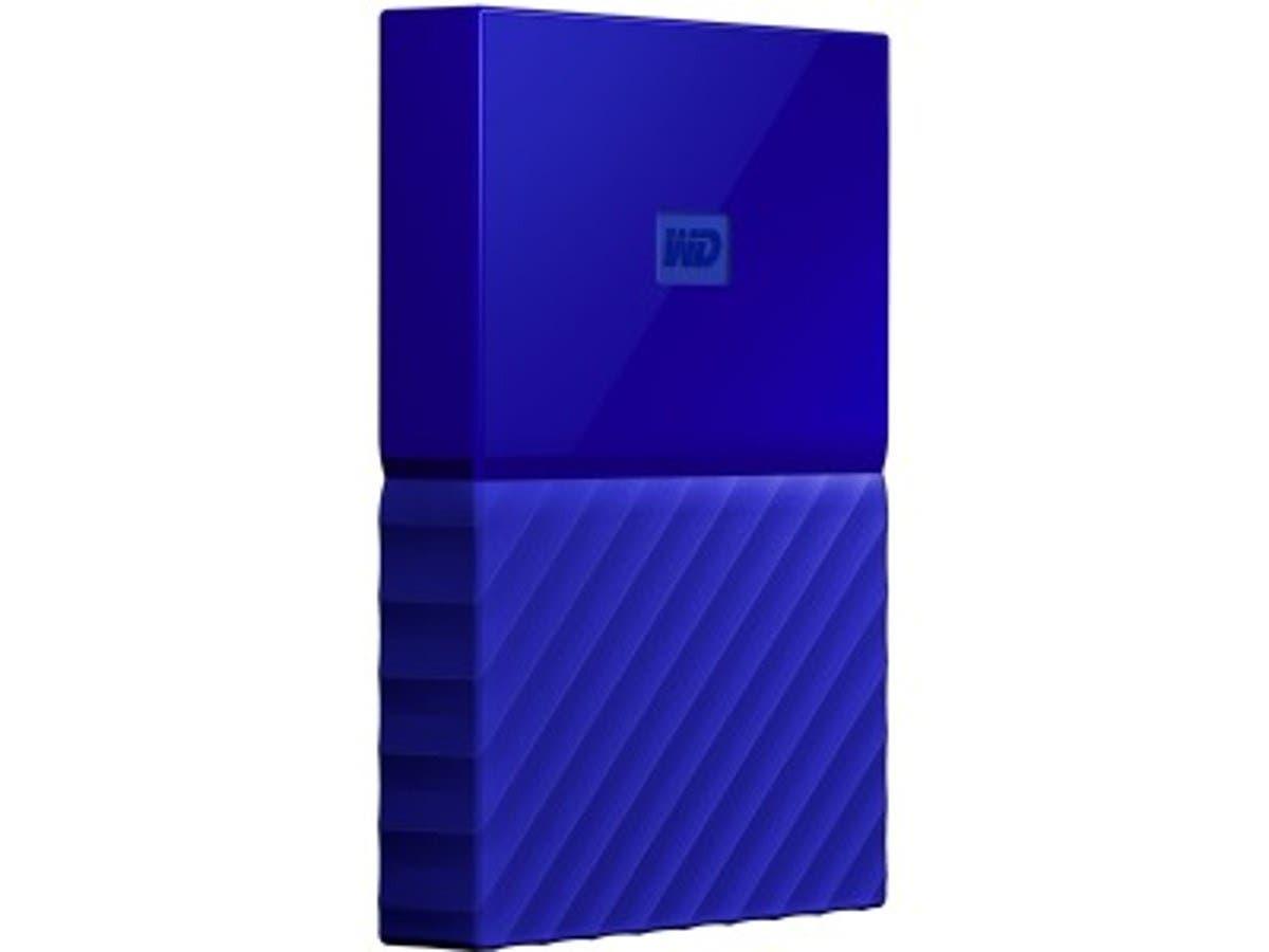 WD My Passport WDBS4B0020BBL-WESN 2 TB Hard Drive - External - Portable - USB 3.0 - Blue - 256-bit Encryption Standard - WDBS4B0020BBL-WESN-Large-Image-1