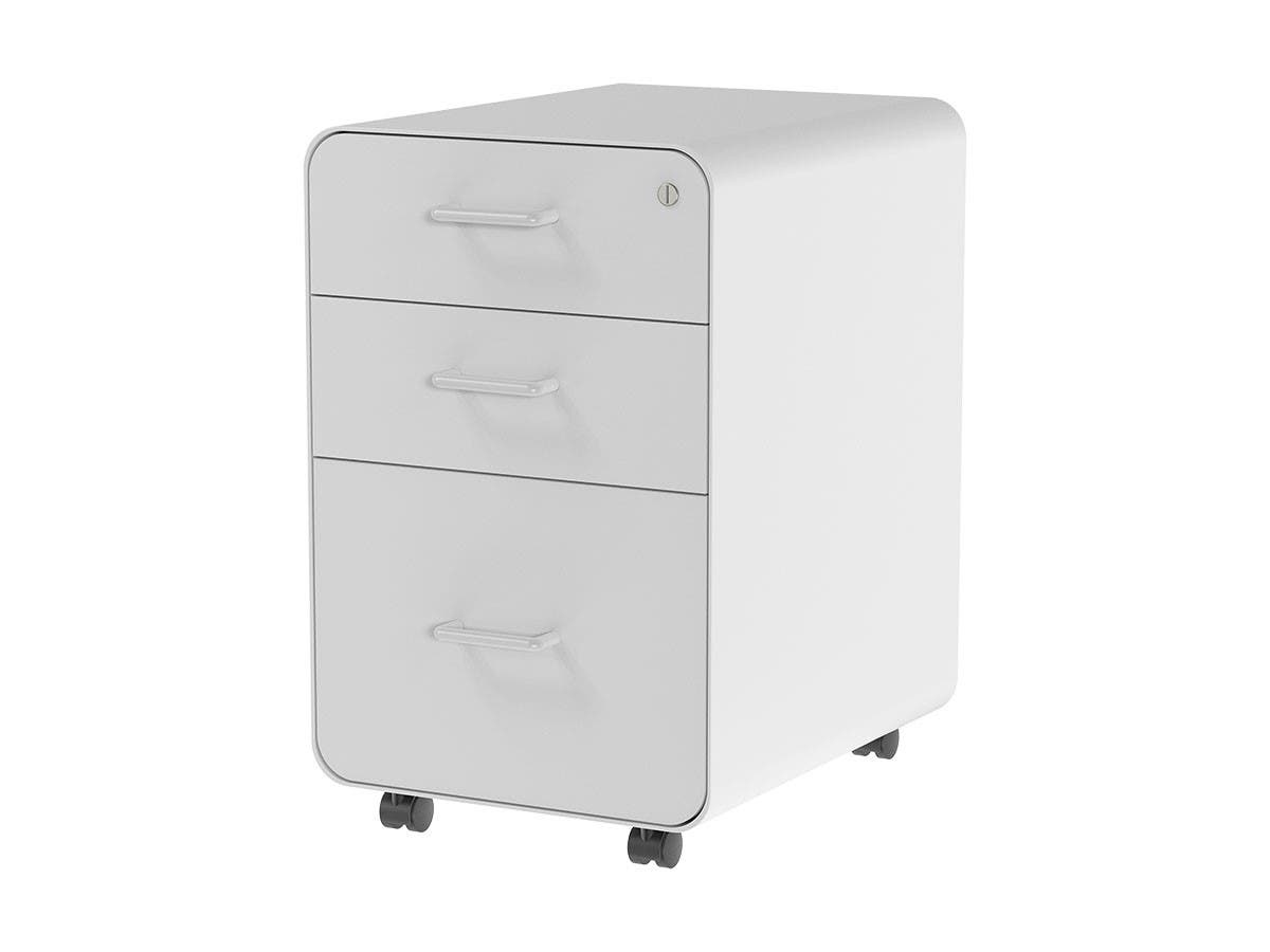 Workstream by Monoprice Rolling Round Corner 34-Drawer File Cabinet