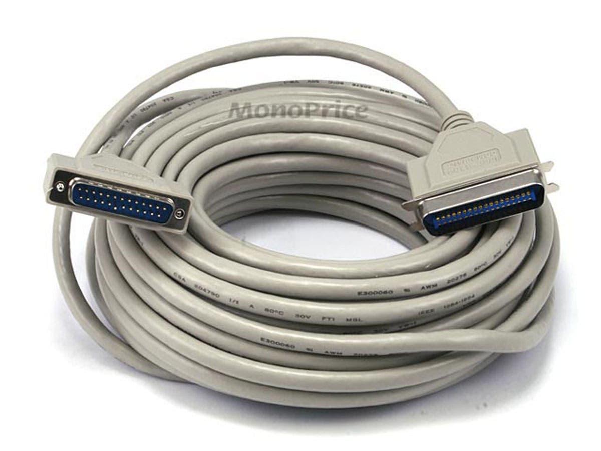 Monoprice IEEE 1284 , DB25M/CN36M , 18PR. - 50ft-Large-Image-1