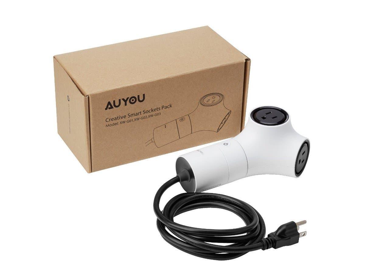 AuYou Wi-Fi Smart Outlet Switch, 5 Outlets Multi Socket Safety On