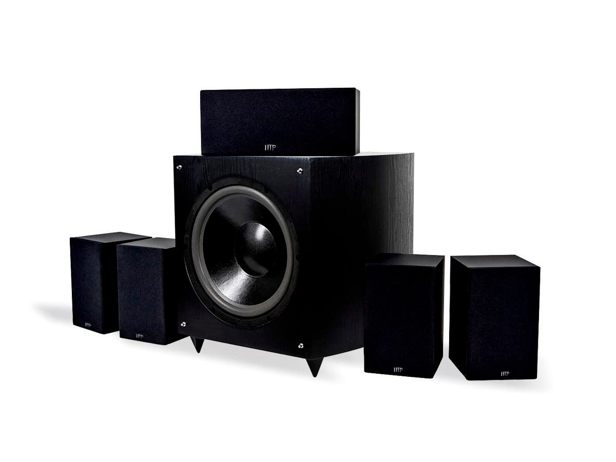 Monoprice Premium 5.1-Ch. Home Theater Speaker System with 12in Subwoofer (9723) (Open Box)-Large-Image-1