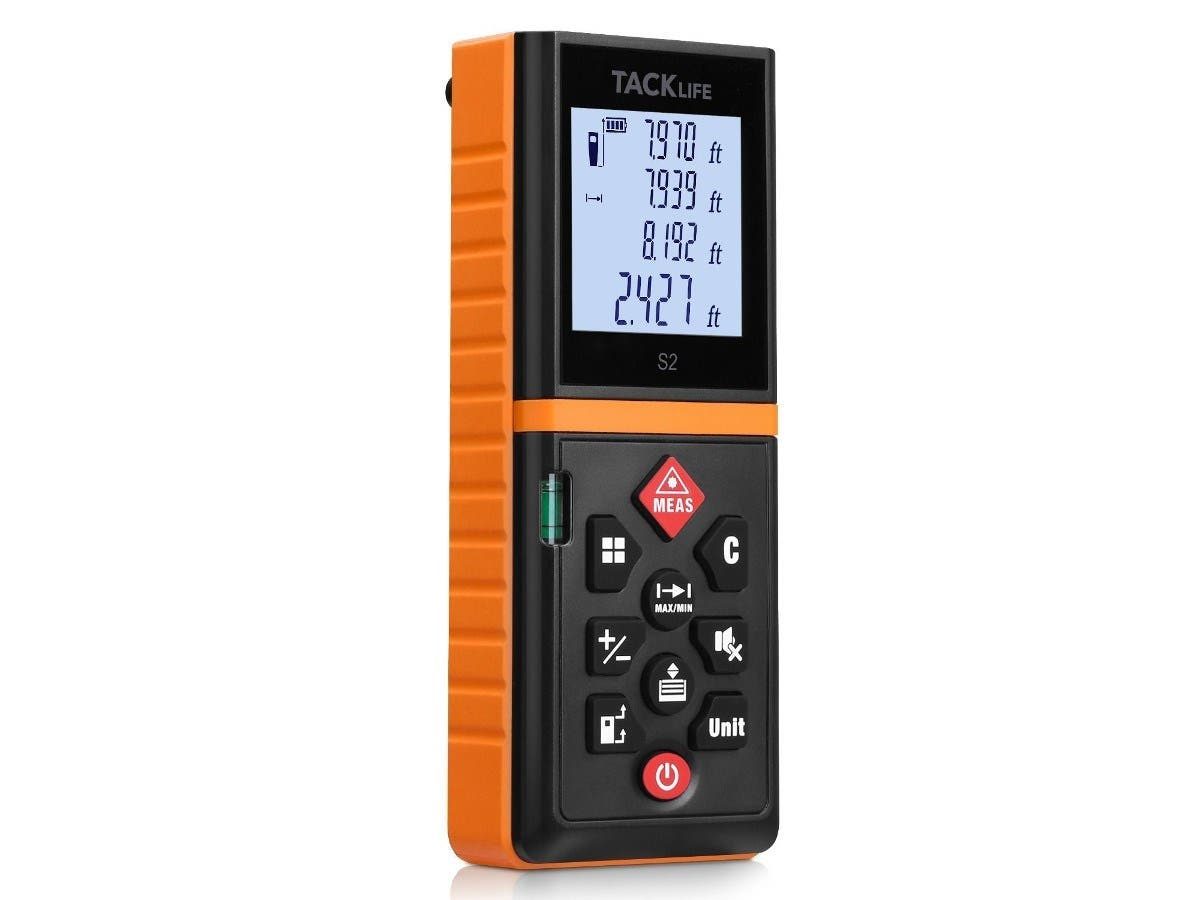 Tacklife Advanced 130-Ft Digital Laser Distance Measure w/Pythagorean Mode