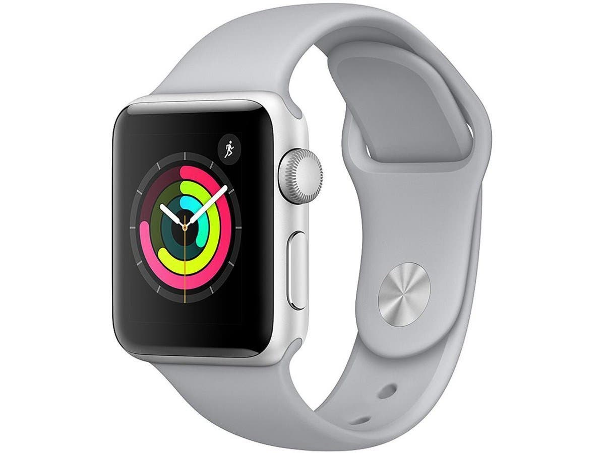 Apple Watch Series 3 GPS, 42mm Silver Aluminum Case with Fog Sport Band (Open Box)-Large-Image-1