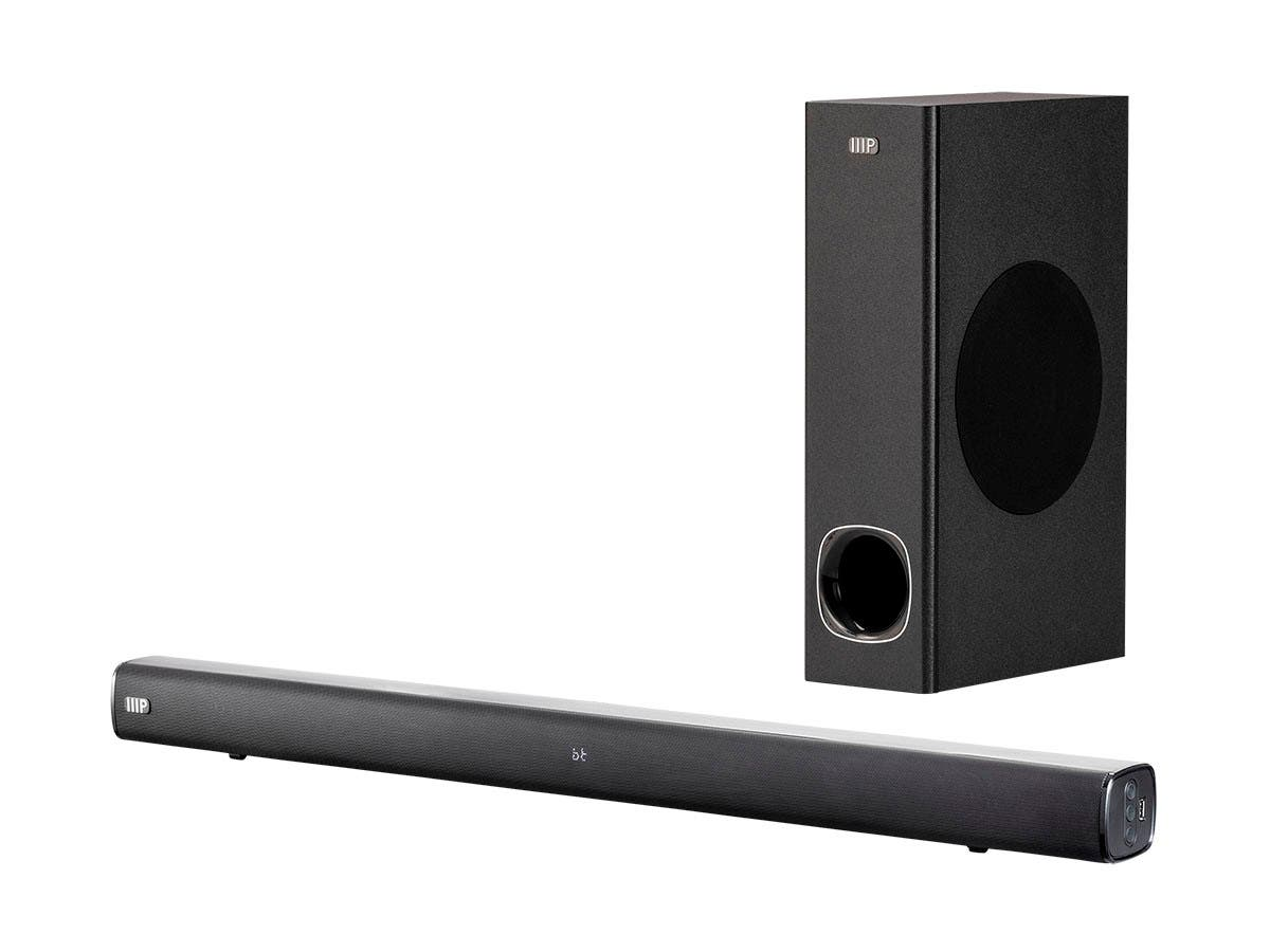Monoprice SB-100SW 2.1-ch 36in Soundbar with Wireless Subwoofer, Bluetooth, Optical Input, and Remote Control-Large-Image-1
