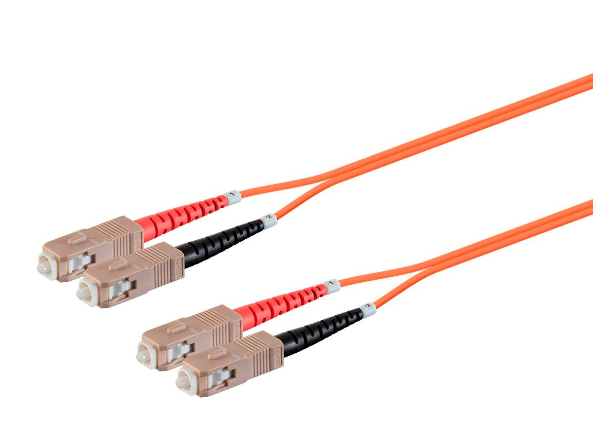 Monoprice OM1 Fiber Optic Cable -SC/UPC-SC/UPC, Multi Mode, Duplex, 62.5/125μm Type, 2.0mm, PVC, 1m-Large-Image-1