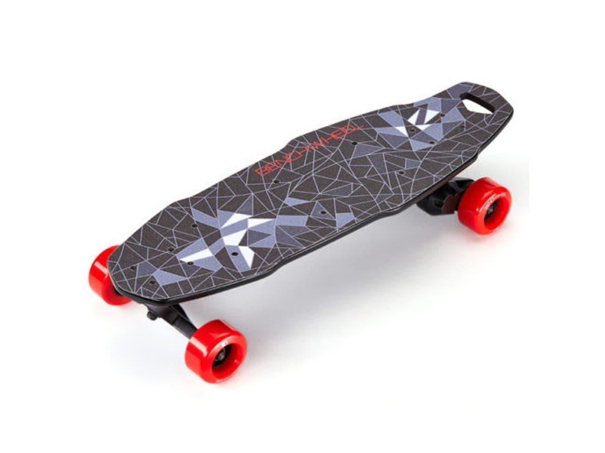 "BENCHWHEEL Penny Board 1000W Electric Skateboard, Black, 27"" (open box)-Large-Image-1"