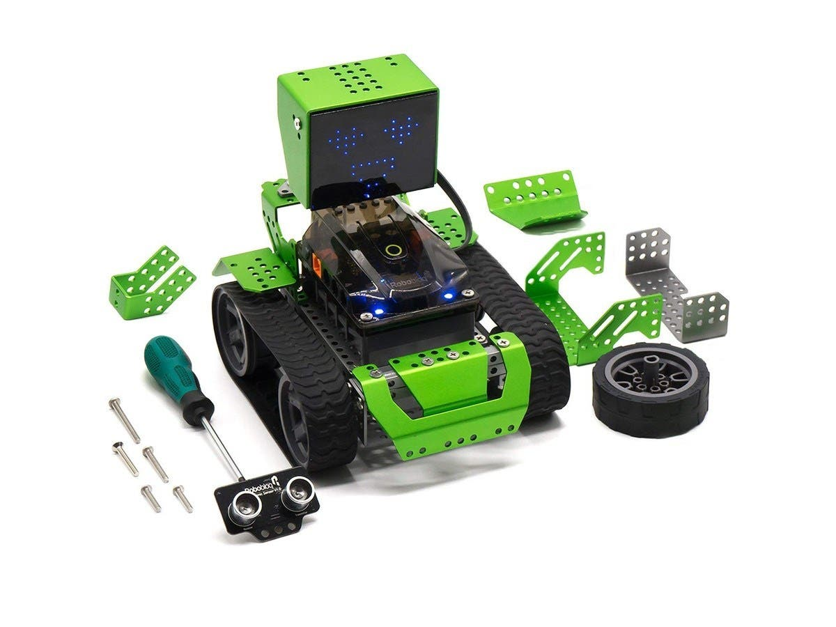 Robobloq Metal Blocks - Qoopers - Robot Building Kit 6-in-1, Robotics for Kids Age 8+, STEM Education Toy -174pcs (open box)-Large-Image-1
