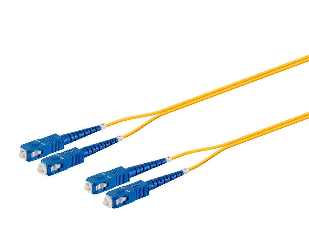Monoprice Fiber Optic Cable -SC/UPC-SC/UPC, G657A1, Single Mode, Duplex, 2mm, PVC, 1m-Large-Image-1