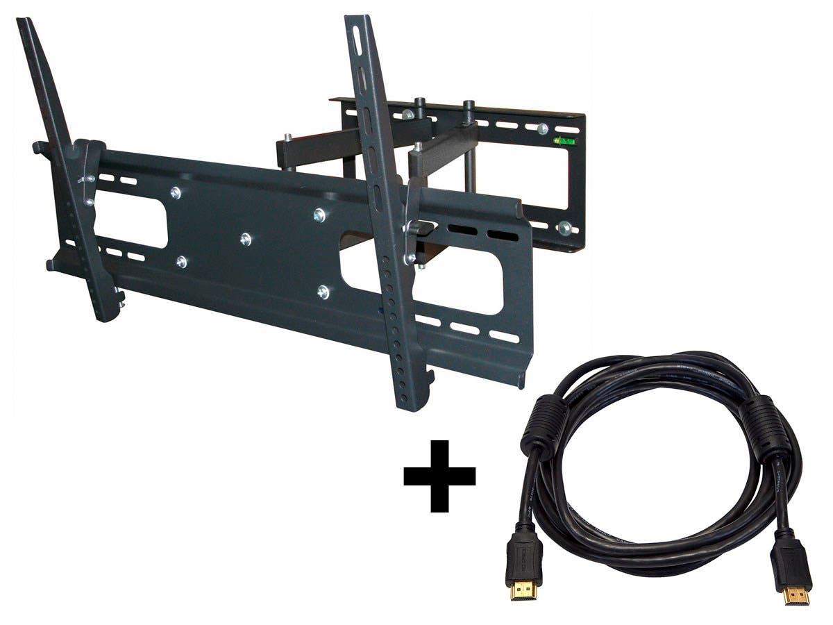 Monoprice Full-Motion Articulating TV Wall Mount Bracket - For TVs 37in to 70in, Max Weight 132lbs (Open Box)-Large-Image-1