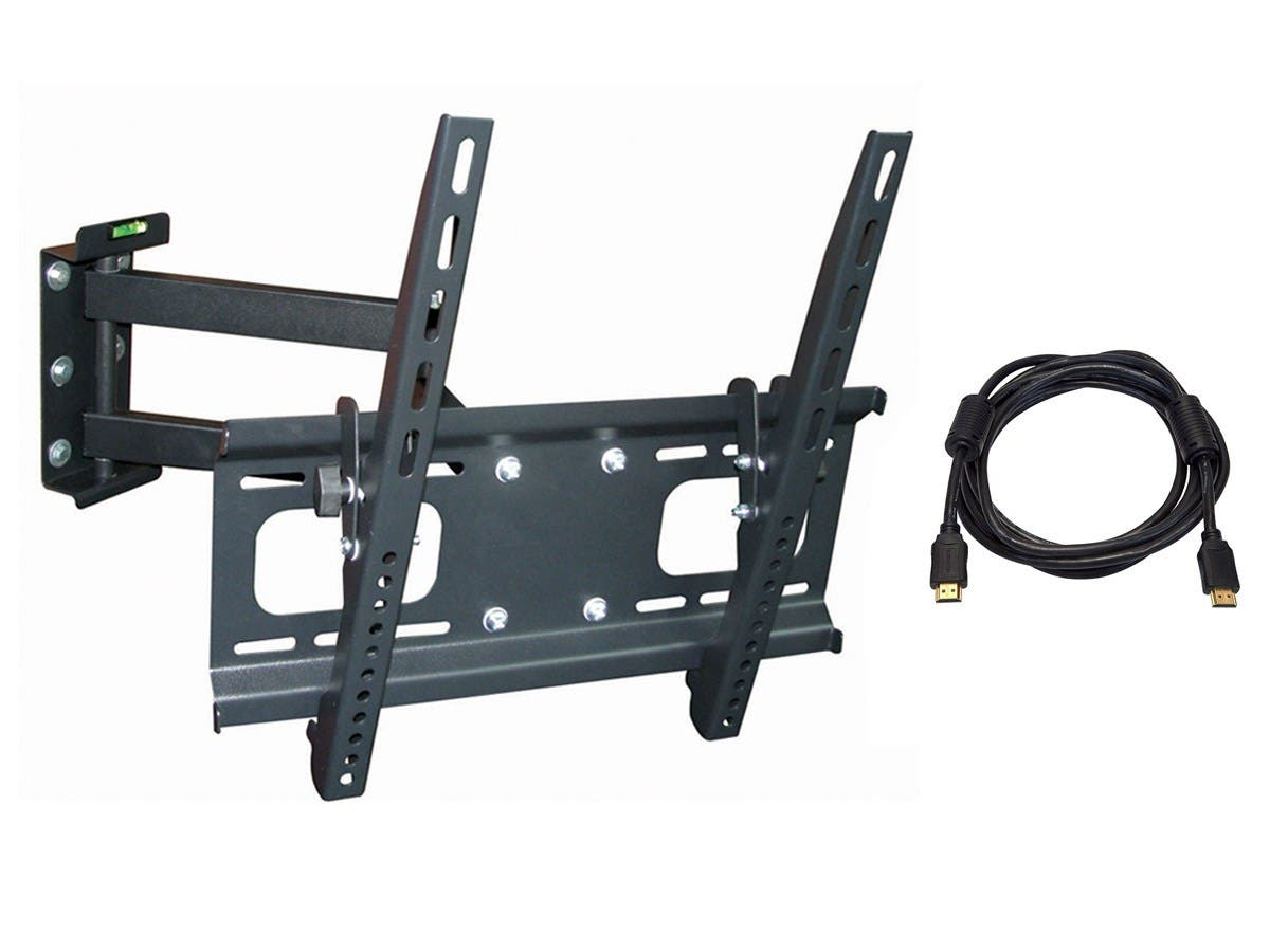 Monoprice Full-Motion Articulating TV Wall Mount Bracket - For TVs 32in to 55in, Max Weight 99lbs (Open Box)-Large-Image-1