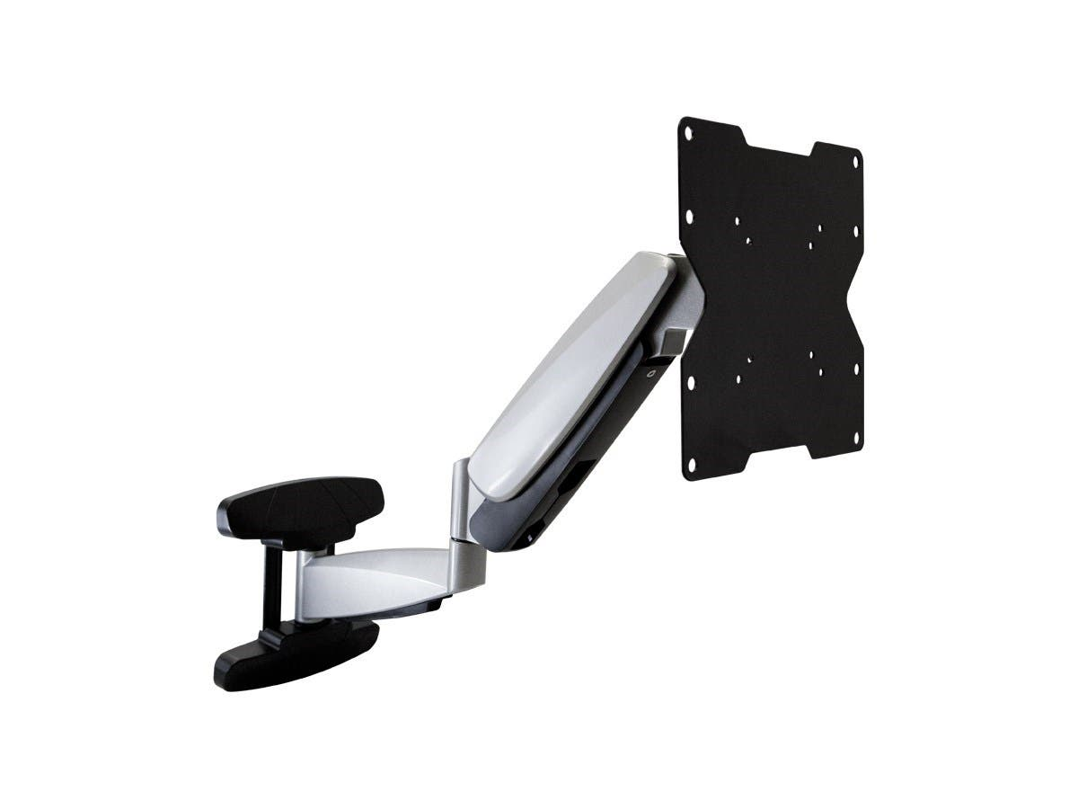 Monoprice Smooth Series Full-Motion Articulating TV Wall Mount Bracket For TVs up to 42in, Max Weight 44lbs, Extension Range of 2.3in to 23.4in, VESA Patterns Up to 200x200, Rotating (Open Box)-Large-Image-1