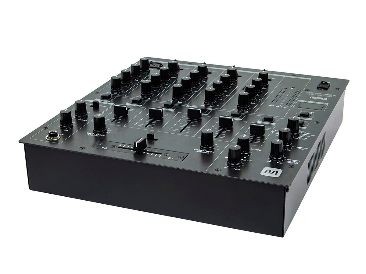 Monoprice 4-Channel DJ Mixer with Fader Control, FX & USB (Open Box)-Large-Image-1