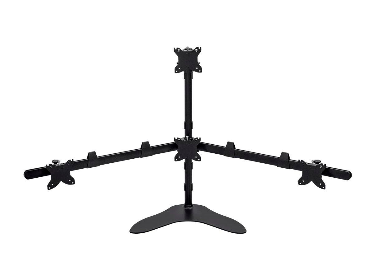 Monoprice Quad Monitor Pyramid Free Standing Desk Mount for 15~30in Monitors (Open Box)-Large-Image-1