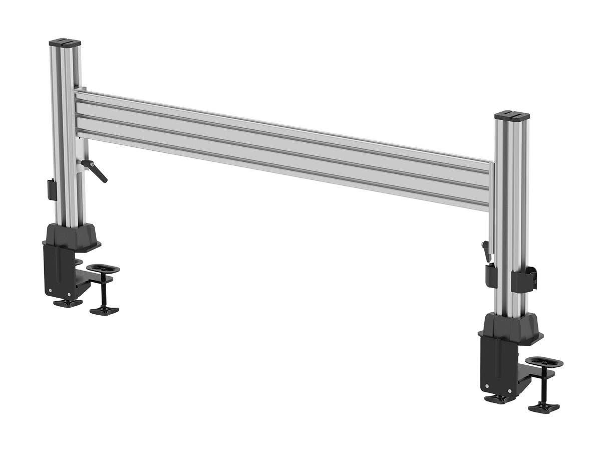 Workstream by Monoprice Slat Desk System Starter Set, Vertical Columns and Horizontal Slats (Open Box)-Large-Image-1